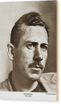 John Steinbeck American Author Circa 1938 Wood Print by California Views Mr Pat Hathaway Archives