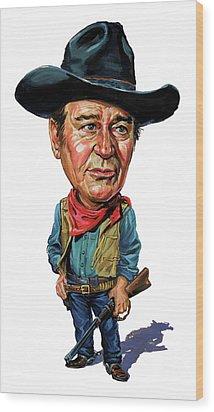 John Wayne Wood Print by Art