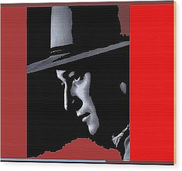 Wood Print featuring the photograph John Wayne As The Ringo Kid Stagecoach 1939-2013 by David Lee Guss