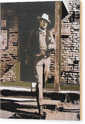 John Wayne Exciting The Sheriff's Office Rio Bravo Set Old Tucson Arizona 1959-2013 Wood Print by David Lee Guss