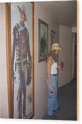 John Wayne Gallery Hondo 1953 Crystal Palace Saloon Helldorado Days Tombstone Arizona 2004 Wood Print by David Lee Guss