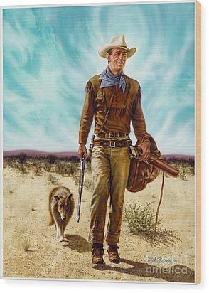John Wayne Hondo Wood Print