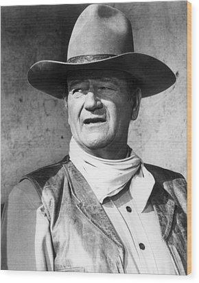 John Wayne In Rio Lobo  Wood Print by Silver Screen