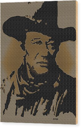John Wayne Lives Wood Print by Robert Margetts