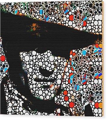 John Wayne Poster Prints Abstract Cowboy  Wood Print