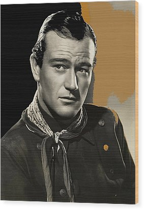 John Wayne  Publicity Photo In Costume Stagecoach 1939-2009 Wood Print by David Lee Guss