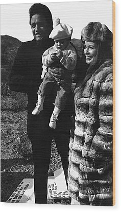Wood Print featuring the photograph Johnny Cash And Family Old Tucson Arizona 1971 by David Lee Guss
