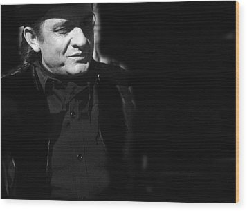 Wood Print featuring the photograph Johnny Cash Film Noir Homage Old Tucson Arizona 1971 by David Lee Guss
