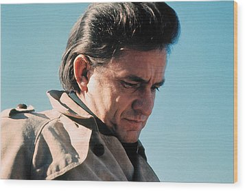 Wood Print featuring the photograph Johnny Cash  Music Homage Ballad Of Ira Hayes Old Tucson Arizona 1971 by David Lee Guss