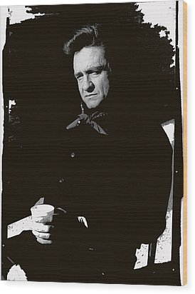 Wood Print featuring the photograph Johnny Cash Sitting With Cup  Old Tucson Arizona 1971-2009 by David Lee Guss