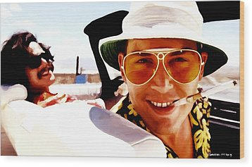 Johnny Depp @ Fear And Loathing In Las Vegas Wood Print