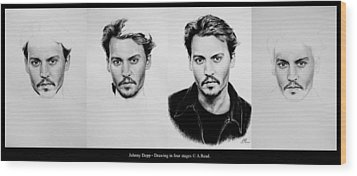 Johnny Depp 4 Wood Print by Andrew Read