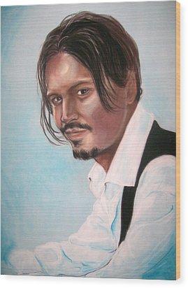Johnny Depp Wood Print by Martha Suhocke