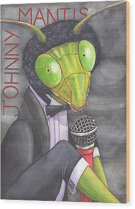 Johnny Mantis Wood Print by Catherine G McElroy