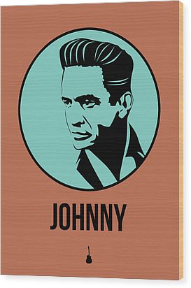 Johnny Poster 1 Wood Print by Naxart Studio