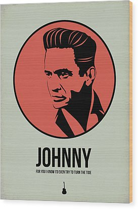 Johnny Poster 2 Wood Print by Naxart Studio
