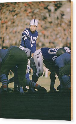 Johnny Unitas Ready  Wood Print by Retro Images Archive