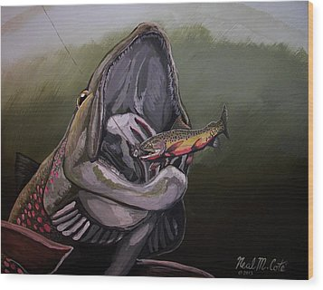 Johnsrud Surprise Wood Print by Neal Cote