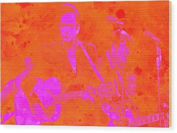 Johny Cash 3 Wood Print by Brian Reaves