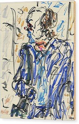 Joker - Bozo Wood Print by Rachel Scott