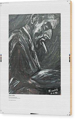 Joker Is Wild Wood Print by Artist Geoff Francis