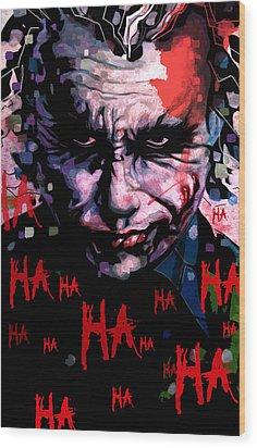Joker Wood Print by Jeremy Scott