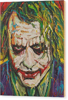Joker Wood Print