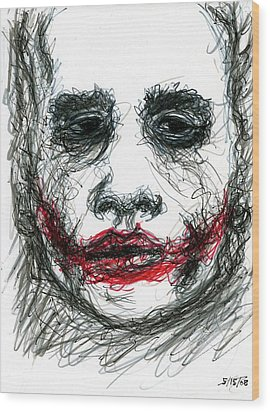 Joker - Not All Jokes Are Funny Wood Print by Rachel Scott