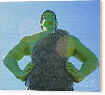 Jolly Green Giant - 02 Wood Print by Gregory Dyer