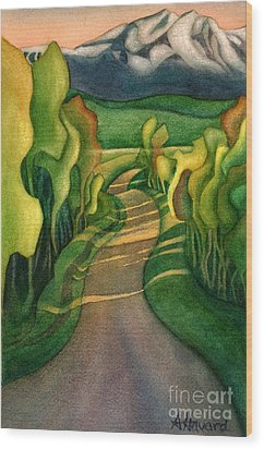 Jollymore Road Wood Print by Anne Havard