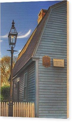Jonathan Gibbs House Wood Print by Joann Vitali