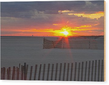 Jones Beach Sunset One Wood Print