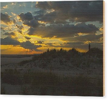 Jones Beach Sunset Two Wood Print