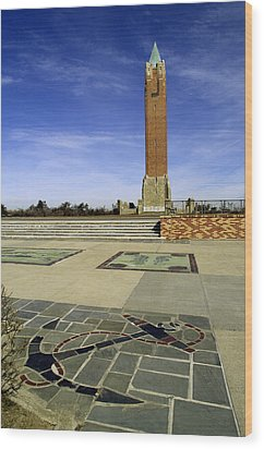 Jones Beach Tower And Anchor New York Wood Print