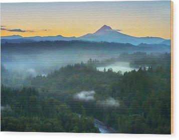 Jonsrud Morning Wood Print by Ryan Manuel