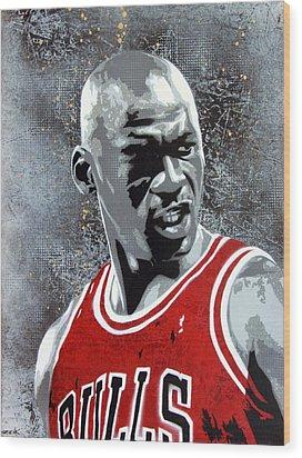 Jordan Wood Print by Bobby Zeik