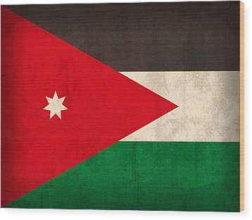 Jordan Flag Vintage Distressed Finish Wood Print by Design Turnpike