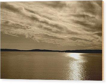 Wood Print featuring the photograph Jordan Lake  Nc by Kelly Nowak