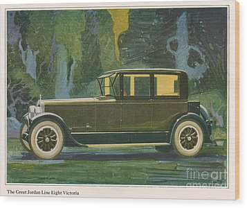 Jordan Line Eight Victoria Car 1925 Wood Print by The Advertising Archives