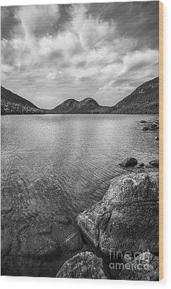 Jordan Pond Acadia National Park Maine. Wood Print by Diane Diederich