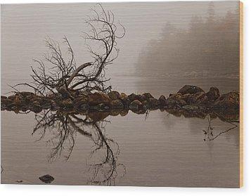 Jordan Pond Wood Print by Karma Boyer