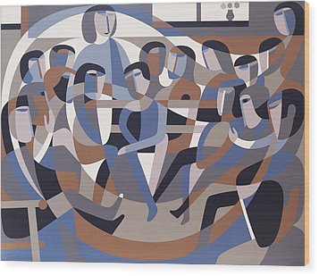 Jordan Quaker Meeting 2 Wood Print by Ron Waddams