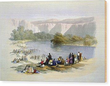 Jordan River Wood Print