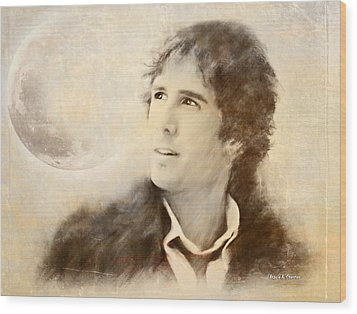 Josh Groban On A Cold Winter Night Wood Print by Angela A Stanton