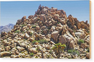 Joshua Tree - 01 Wood Print by Gregory Dyer