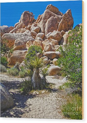 Joshua Tree - 08 Wood Print by Gregory Dyer