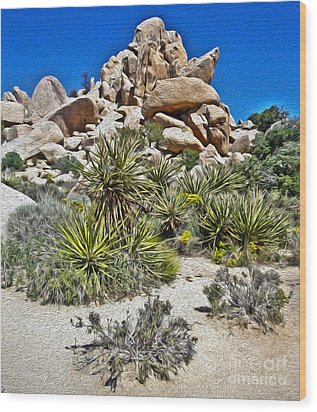 Joshua Tree - 12 Wood Print by Gregory Dyer