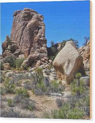 Joshua Tree - 13 Wood Print by Gregory Dyer