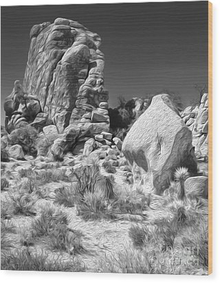 Joshua Tree - 14 Wood Print by Gregory Dyer