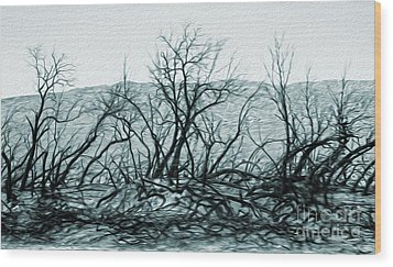 Joshua Tree - Burned Out Trees Wood Print by Gregory Dyer